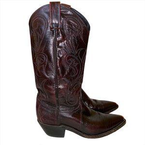 Dan Post Cowboy Boots Western Brown Size 6.5